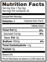 NutritionPanel_BuffaloSandwichSauce_8oz