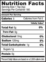NutritionPanel_DeliMustard_32oz