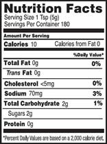 NutritionPanel_HoneyMustard_32oz