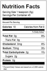 NutritionPanel_HoneyMustard_8oz