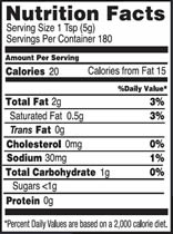 NutritionPanel_HorseRadish_32oz
