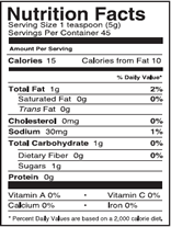 NutritionPanel_PineappleHM_8oz