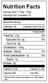 NutritionPanel_Southwest_8oz