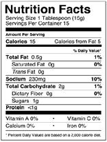 NutritionPanel_Sriracha_8oz
