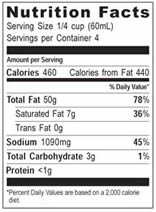 NutritionPanel_WPSSundriedTomato_8oz